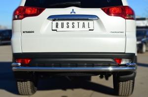 Mitsubishi Pajero Sport 2013 Защита заднего бампера d63 (волна) d42 (уголки) MPSZ-001584